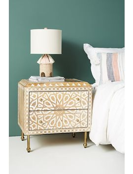 Handcarved Albaron Bedside Table by Anthropologie