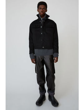 cotton-twill-jacket-black-_-black by acne-studios