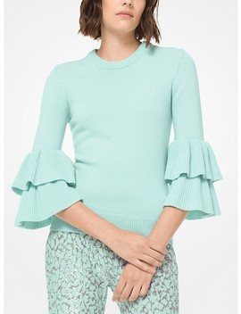 Cashmere Ruffle Cuff Sweater by Michael Kors Collection