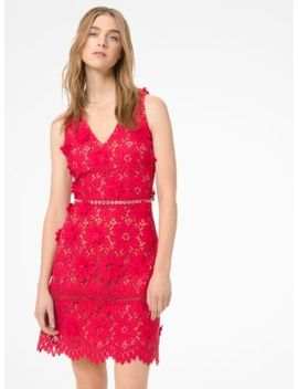 Floral Appliqué Lace Dress by Michael Michael Kors