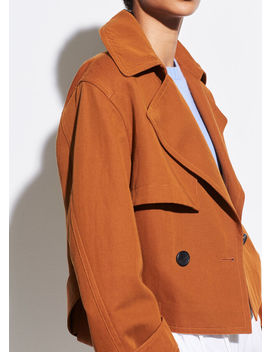 Cropped Belted Jacket by Vince