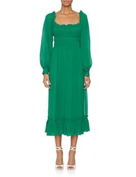 Longsleeve Square Neck Dress by Fivestory