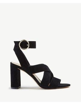 Margot Suede Heeled Sandals by Ann Taylor
