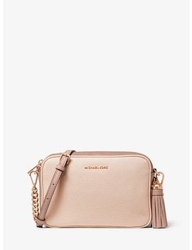 Ginny Medium Two Tone Pebbled Leather Crossbody Bag by Michael Michael Kors