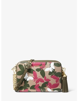 Ginny Medium Butterfly Camo Leather Crossbody by Michael Michael Kors