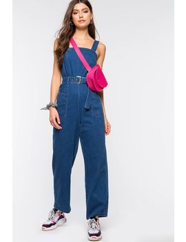 Working Girl Denim Jumpsuit by A'gaci