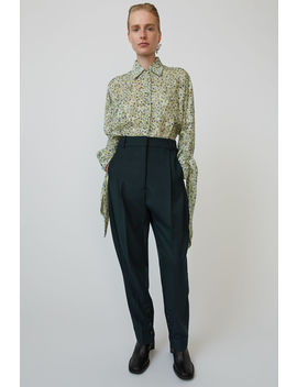 Relaxed Fit Trousers Deep Green by Acne Studios