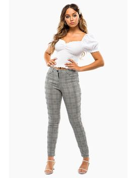 Plaid Professional Skinny Trouser by A'gaci
