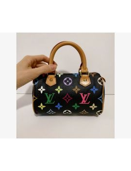 😳Authentic Louis Vuitton  Mini  Nano Speedy Murakami Multicolor Black Bag by Louis Vuitton