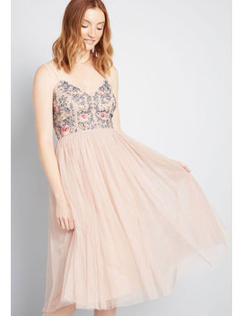 Embellished Belle Embroidered Midi Dress by Modcloth