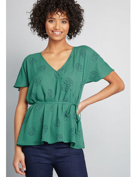 Graceful Greeting Surplice Top by Modcloth
