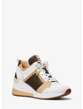 Georgie Logo And Leather Trainer by Michael Michael Kors
