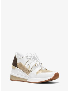 Kellyn Leather And Mesh Trainer by Michael Michael Kors