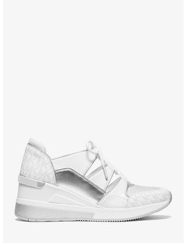 Kellyn Logo Mixed Media Trainer by Michael Michael Kors