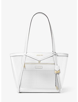 Whitney Large Clear And Leather Tote Bag by Michael Michael Kors