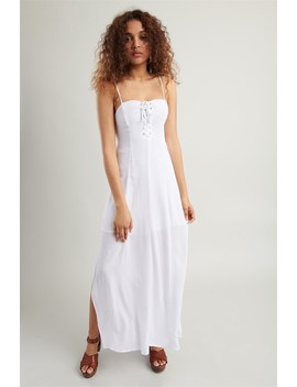 Lace Up Maxi Dress by Garage