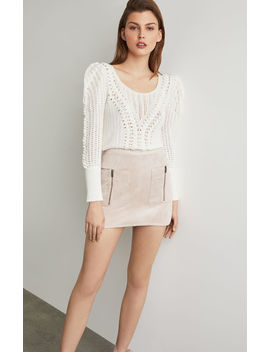 Patch Pocket Faux Suede Skirt by Bcbgmaxazria
