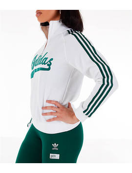 Women's Adidas Originals Stripe Out Half Zip Sweatshirt by Adidas