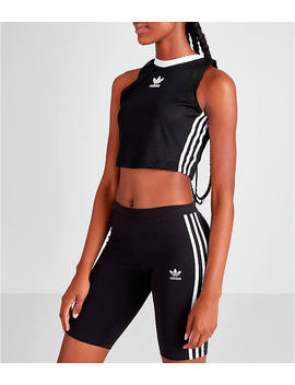 Women's Adidas Originals 3 Stripes Mesh Crop Tank by Adidas