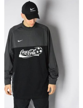 Y2 K Black Grey Coca Cola Nike Football Sports Jersey Shirt by Nike