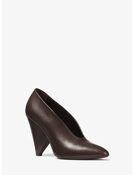 Dori Calf Leather Choked Pump by Michael Kors Collection