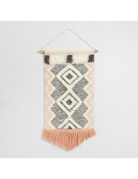 Coral And Gray Fringed Wall Hanging by World Market