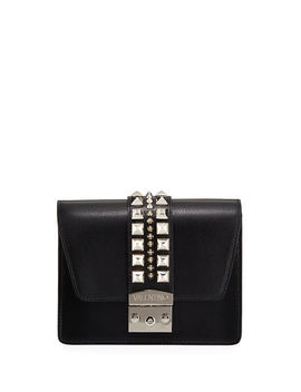 Benedicte Studded Leather Crossbody Bag by Valentino By Mario Valentino