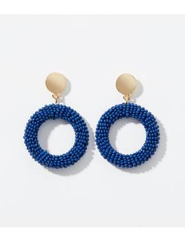 Beaded Circle Drop Earrings by Loft