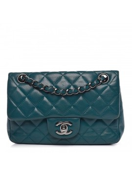 Chanel Lambskin Quilted Mini Rectangular Flap Turquoise by Chanel