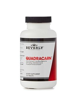 Quadracarn 120 Tablets. 4 X Potency Multi Carnitine Formula For Fat Loss, Muscle Definition, Vascularity, Testosterone, Sexual Health, Mood, Energy, Anti Aging. by Beverly International