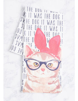 It Was The Dog Tea Towel by Modcloth