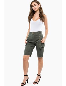 Self Belt Utility Bermuda Short by A'gaci