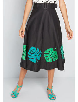 Talk Tropical Midi Skirt by Collectif