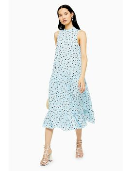 Tall Blue Floral Sleeveless Dress by Topshop