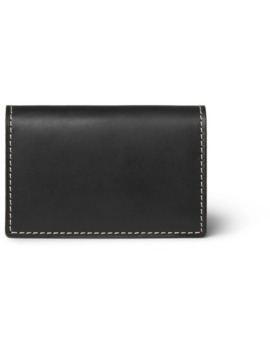 Colour Block Leather Bifold Cardholder by Hender Scheme