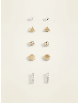 Geometric Stud Earrings 5 Pack Set For Women by Old Navy