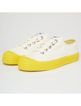 Star Master Sneakers   White & Yellow by Novesta Footwear