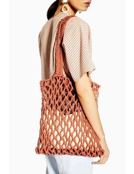 Saona Coral String Tote Bag by Topshop