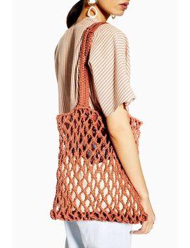 Saona Coral String Tote Bag by Topshop