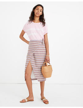 Sarong Midi Skirt In Rainbow Gingham by Madewell