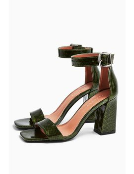 Suki Green Two Part Sandals by Topshop