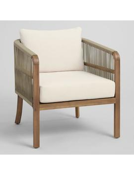 Tan Nautical Rope Cambria Outdoor Occasional Chair by World Market