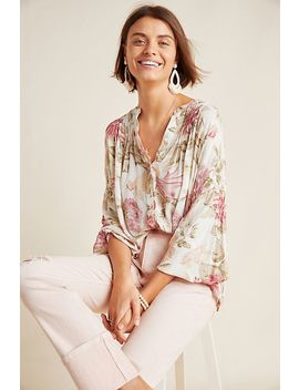 Frye X Anthropologie Elden Floral Peasant Blouse by Frye