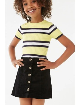 Girls Button Front Corduroy Skirt (Kids) by Forever 21