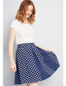 Pleats On Repeat A Line Skirt by Modcloth