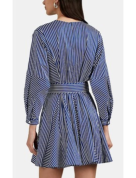 Candy Striped Cotton Blend Belted Minidress by Derek Lam 10 Crosby