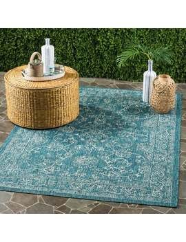 Safavieh Courtyard Aquata Scroll Indoor/ Outdoor Turquoise Rug by Safavieh