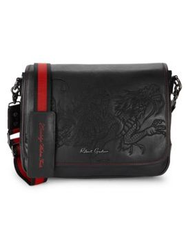 Logo Embossed Leather Crossbody Bag by Robert Graham