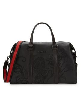 Embossed Leather Duffle Bag by Robert Graham