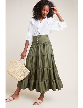 Lainey Tiered Maxi Skirt by Maeve